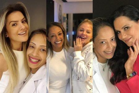 Eliane Sampaio com Mirella Santos, Luísa Sonza e Luiza Brunet