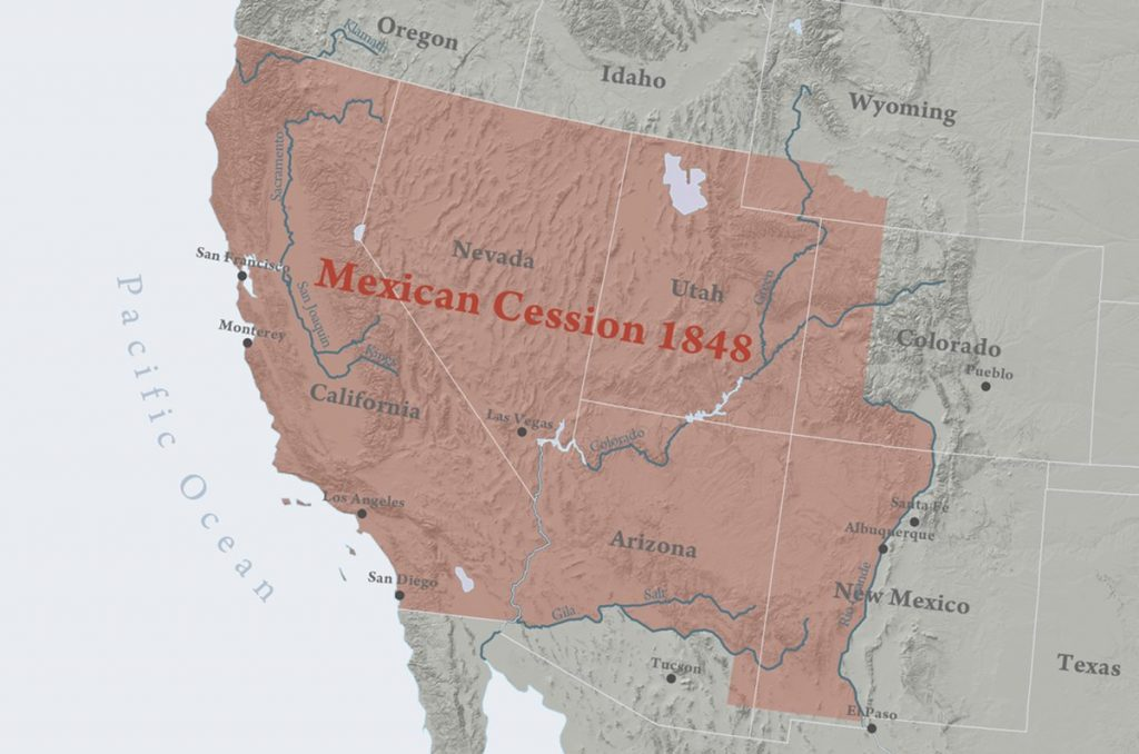 Terras mexicanas compradas pelos USA