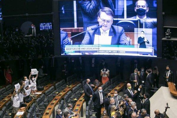 Bolsonaro participa da reabertura do Congresso