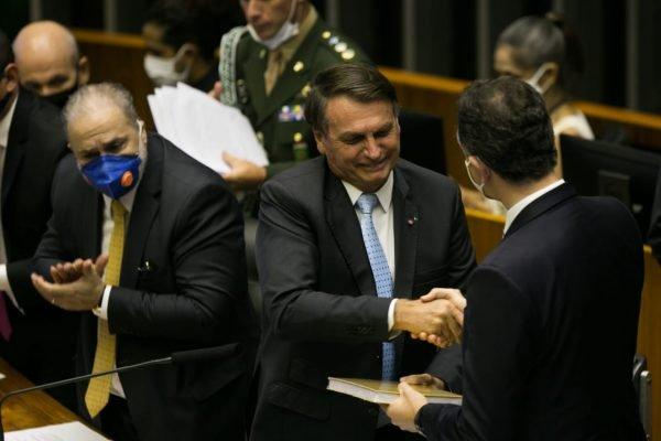Bolsonaro participa da abertura do ano legislativo no Congresso