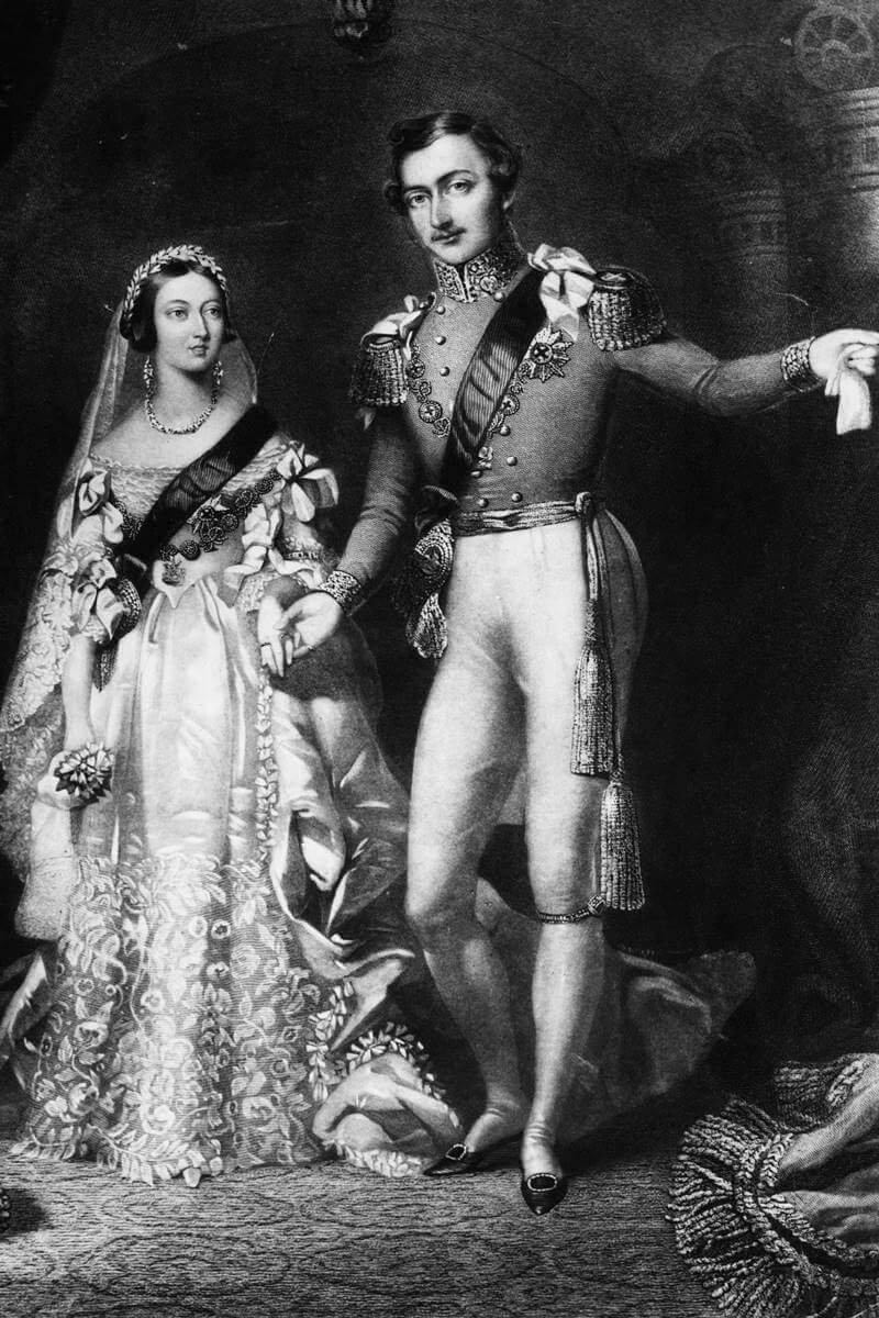 Rainha Victória com o príncipe Albert de Saxe-Coburgo e Gotha
