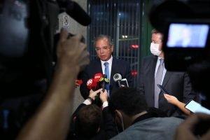 Coletiva de imprensa, ministro da Economia, Paulo Guedes e presidente da Câmara dos Deputados, Arthur Lira