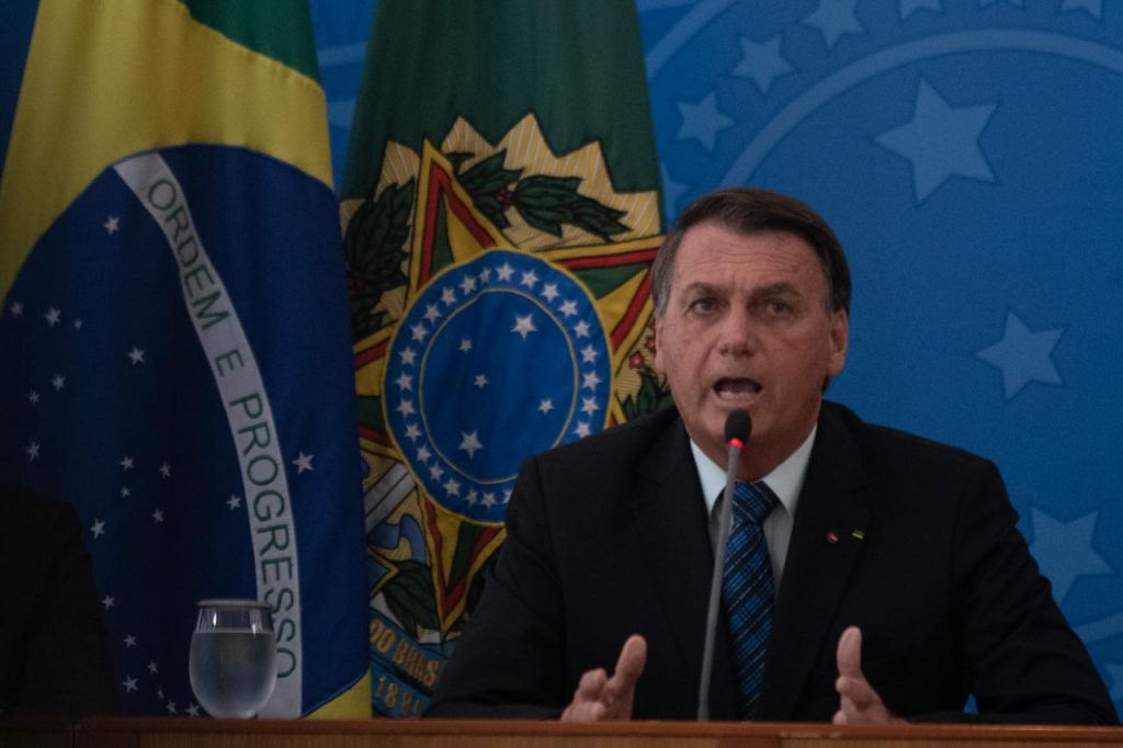 Jair Bolsonaro em coletiva