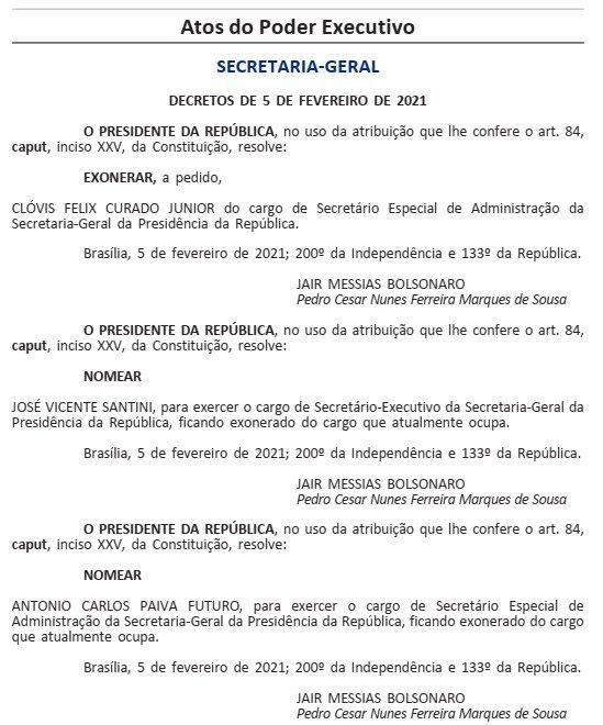 Nomeação Santini Casa Civil
