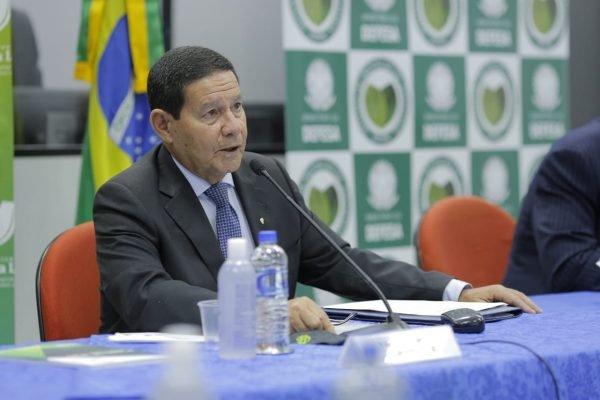 Hamilton Mourão comanda a IV Reunião do Conselho Nacional da Amazônia Legal - Reprodução/Twitter