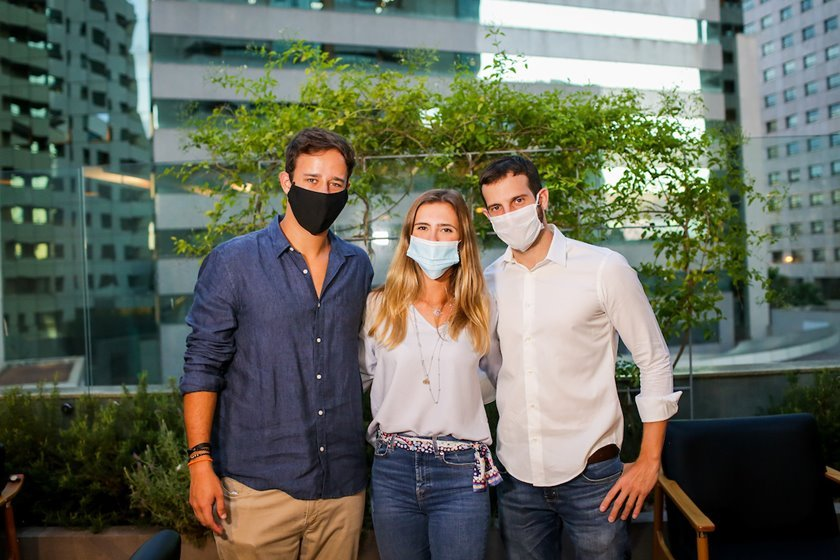 Pedro e Juliana Cunha Campos com Vitor Vellasco