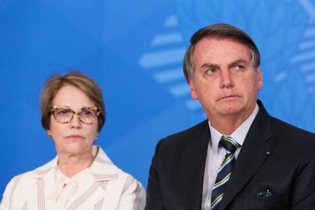 Ministra Tereza Cristina e presidente Jair Bolsonaro
