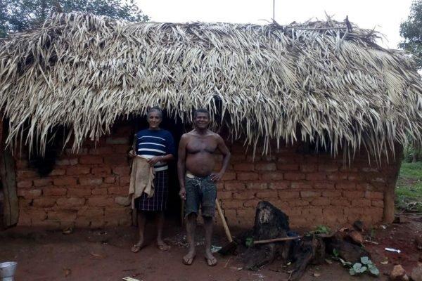 Casal kalunga do quilombo São Domingos, em Cavalcante