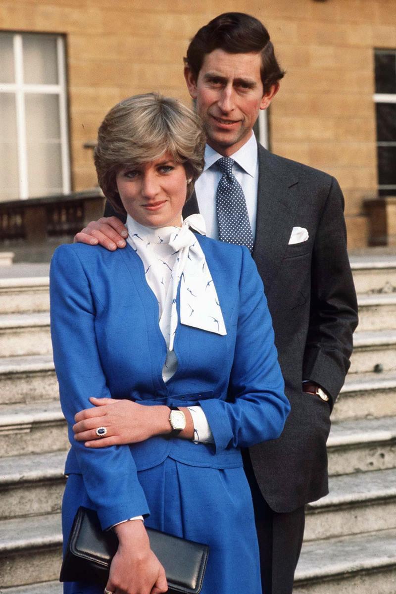 Príncipe Charles com princesa Diana