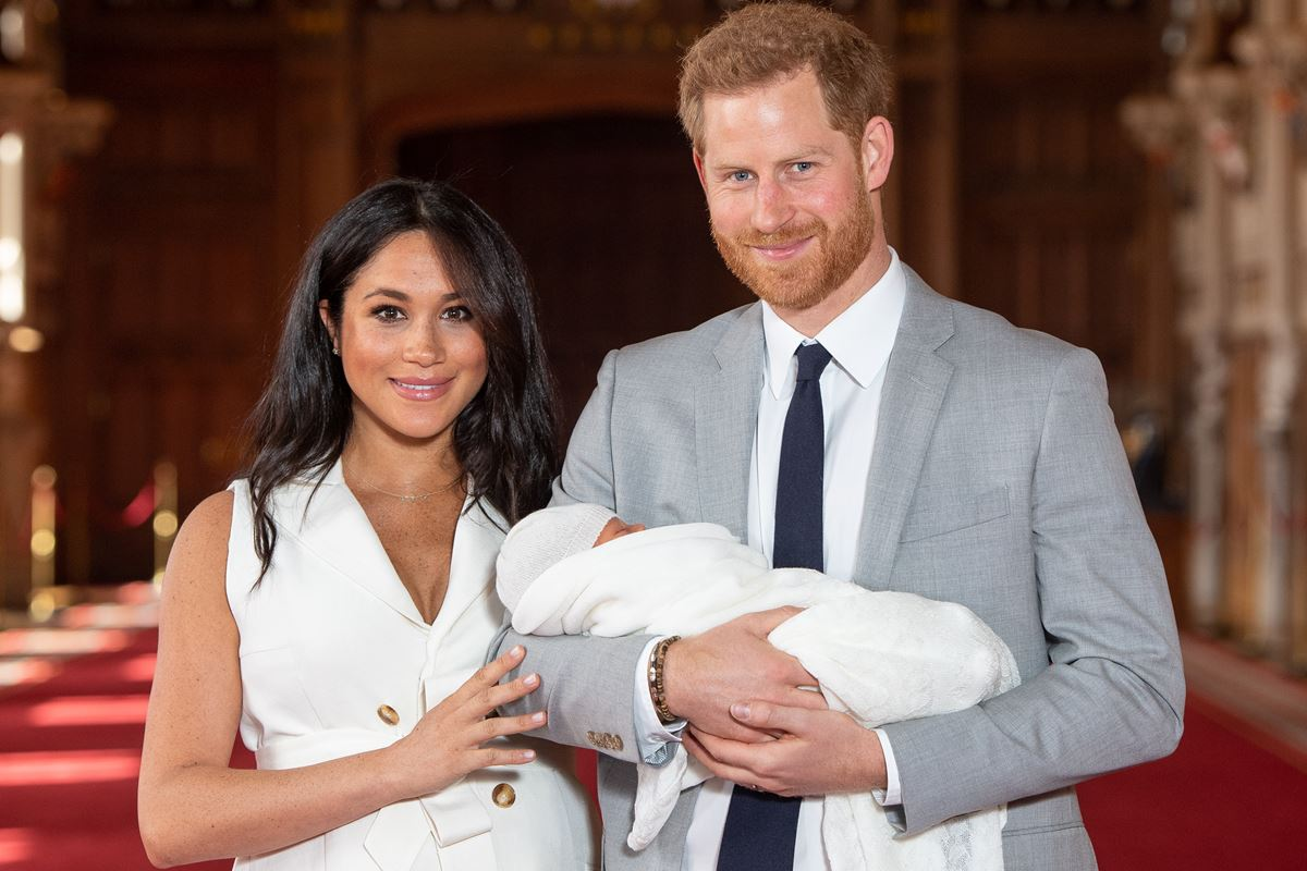 Meghan Markle, príncipe Harry e Archie