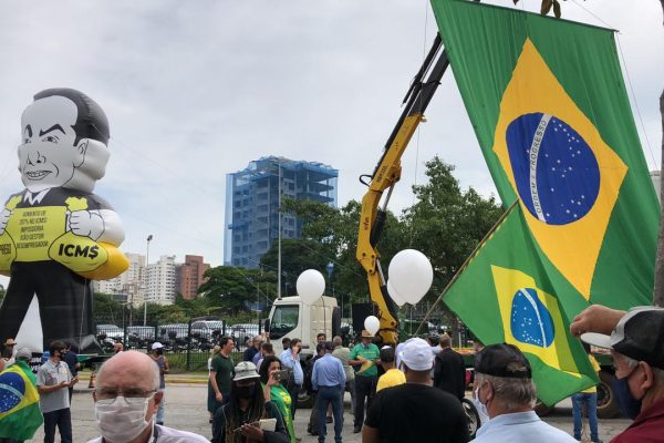 Alesp, São Paulo, 17 de fevereiro de 2021 - Entidades da saúde em protesto contra mudanças no ICMS (2)