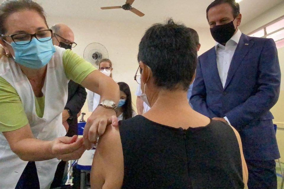 (1) Serrana (SP), 17 de fevereiro de 2021 - Vacinação em Serrana dentro do Projeto S começou nesta quarta-feira