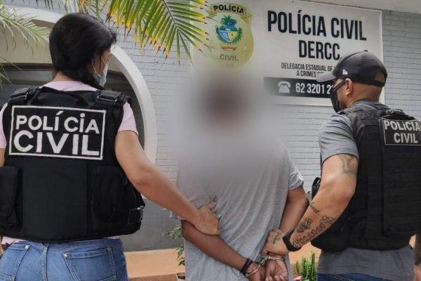 Acusado de pedofilia conduzido pela Polícia Civil (GO)