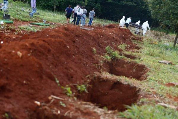 Covas abertas em cemitério em Goiânia - Covid-19