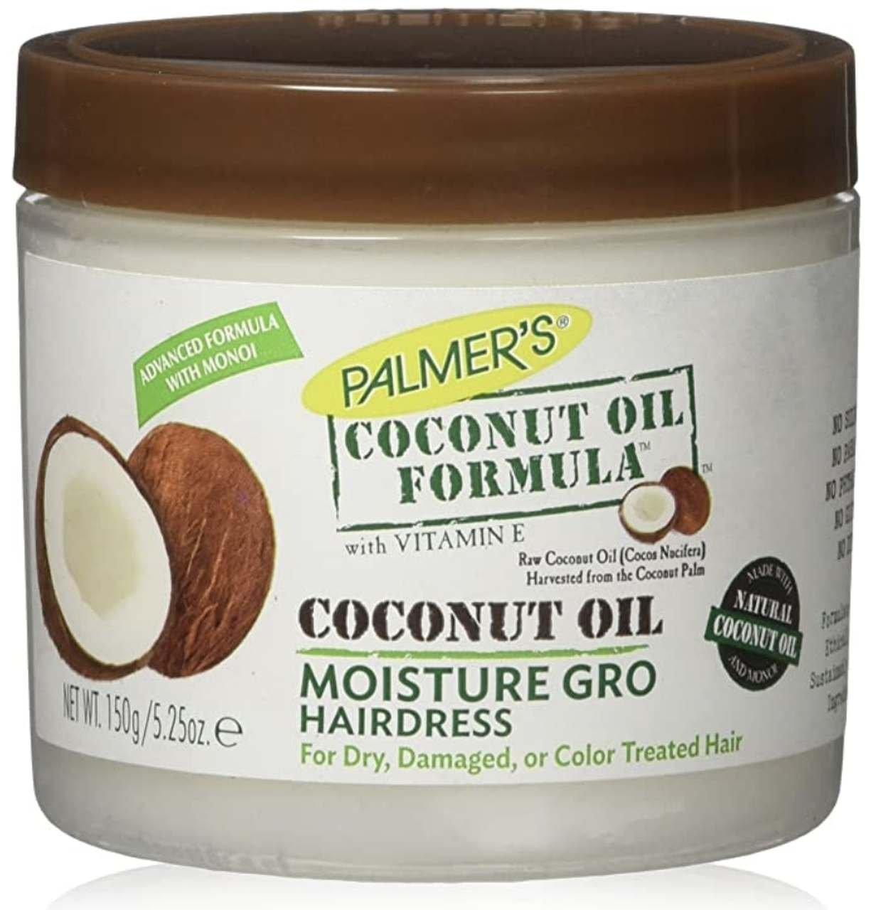 Óleo de coco especial para cabelo, da Palmer's
