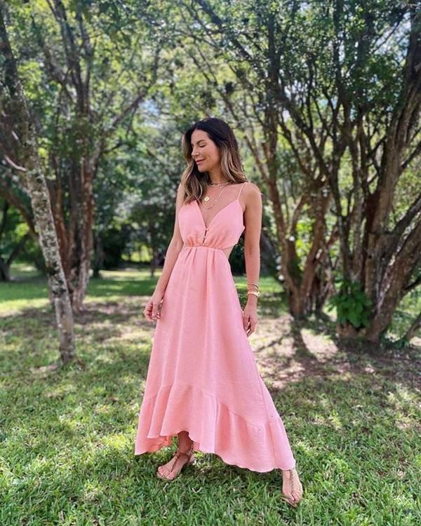 Vestido rosa da Charth