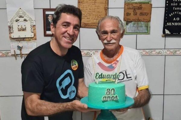 Vereador Cabo Senna (Patriota/GO) e pai Eduardo Soares, que morreu de Covid