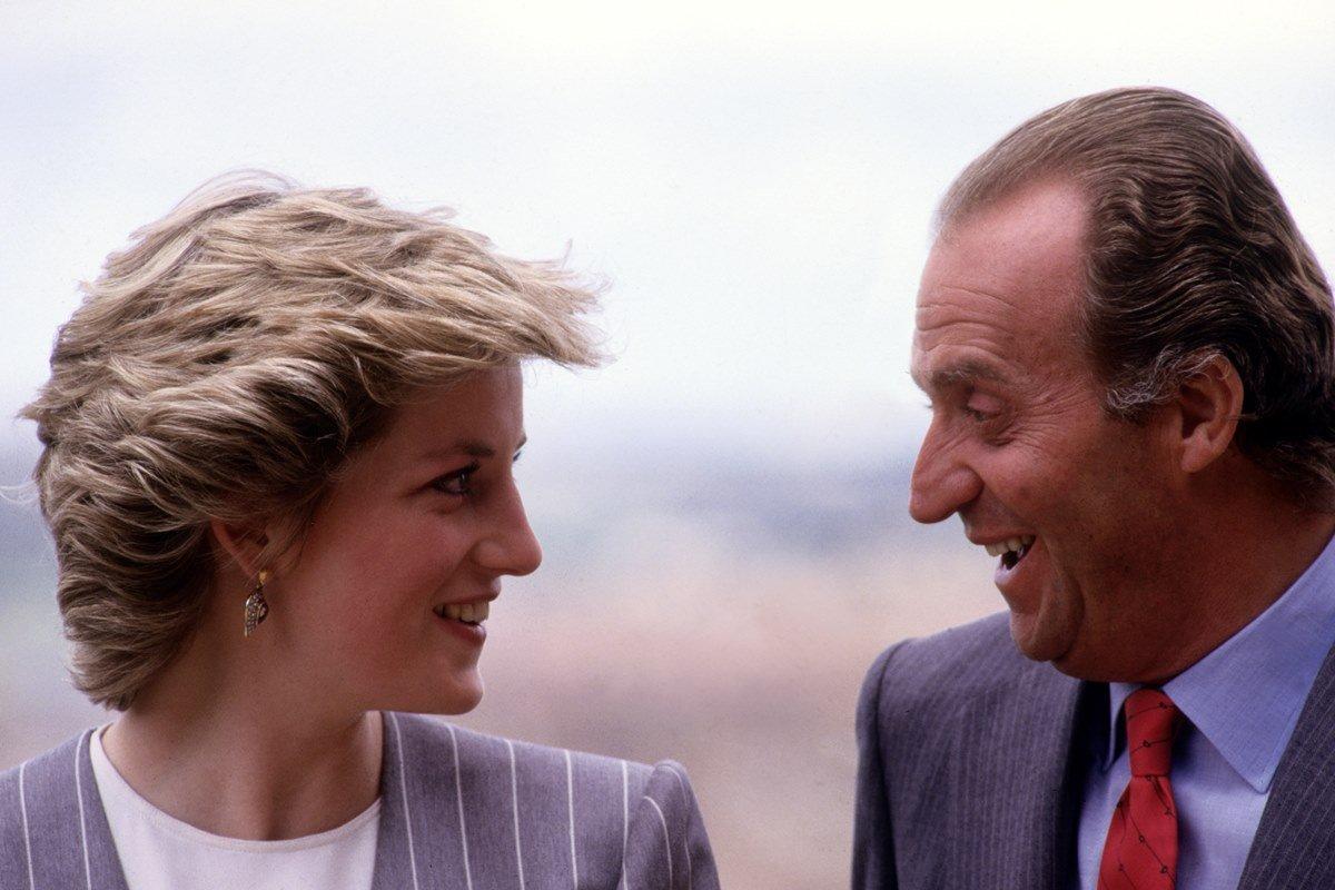 Princesa Diana e rei Juan Carlos