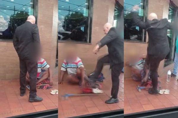 Homem é agredido por funcionário em churrascaria em Ribeirão Preto (SP) - 17-2-2021