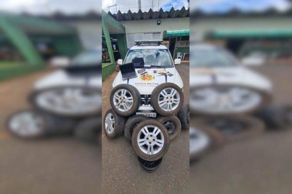 rodas recuperadas pela polícia