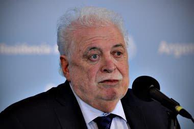 Ministro da Saúde argentino, Gines Gonzales