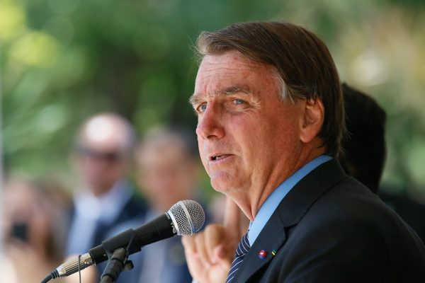 Presidente Jair Bolsonaro em discurso