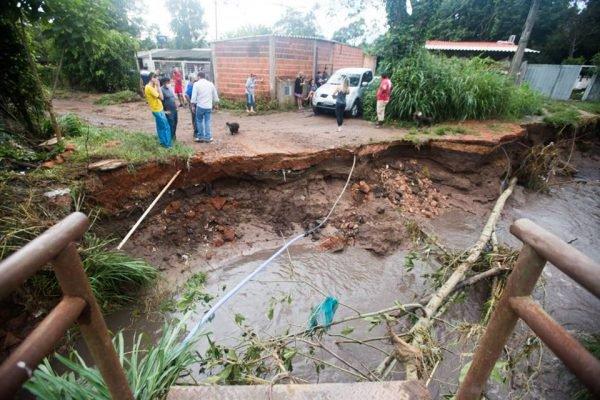 Inundação na Vila Cauhy