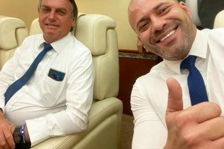 Daniel Silveira e Jair Bolsonaro (1)