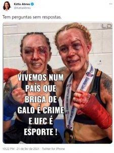 Senadora Katia Abreu compara UFC a rinha de galo