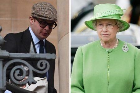 Simon Bowes-Lyon e rainha Elizabeth