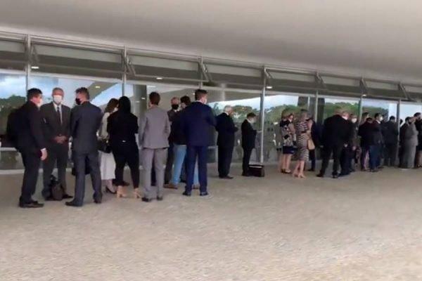 Aglomeração no Palácio do Planalto