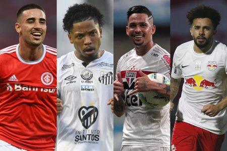 Thiago Galhardo, Marinho, Luciano e Claudinho disputam o troféu de artilheiro do Brasileirão 2020