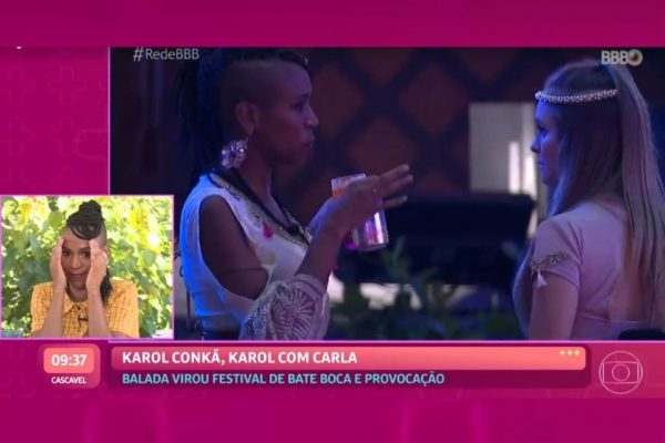 Karol Conka ve briga com Carla