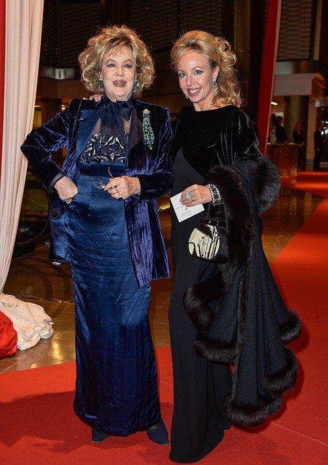 Princesa Camilla com sua mãe, Edoarda Crociani