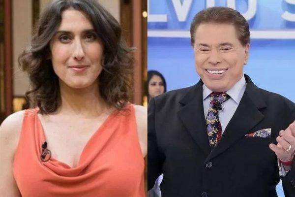 Paola Carosella e Silvio Santos