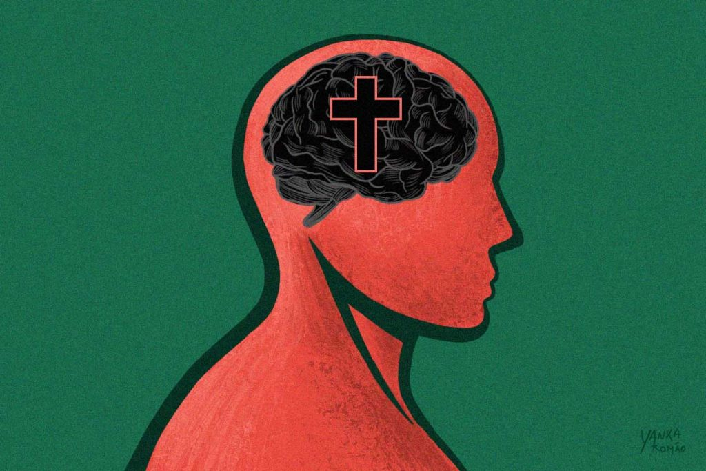 Ilustração de morte cerebral