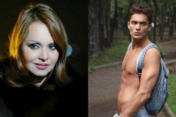 Gaby Spanic e novo par romântico (Carlos Bardassano) sem camisa
