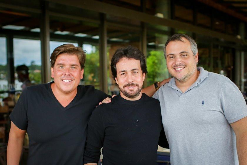 João Vitor Curial, Omar Debs e Rodrigo Gorgulho