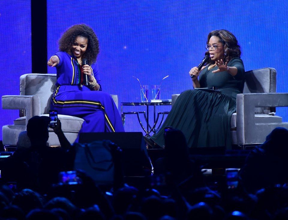 Oprah entrevistando Michelle Obama