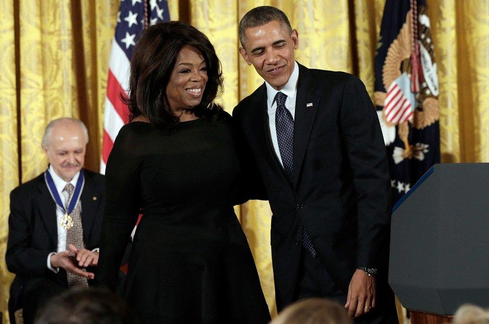 Oprah Winfrey e Barack Obama