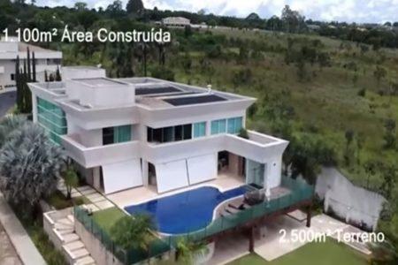 Imagem da mansão de Flávio Bolsonaro