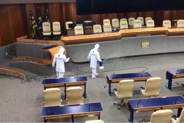 Desinfecção da Câmara de Vereadores de Goiânia (Covid-19)