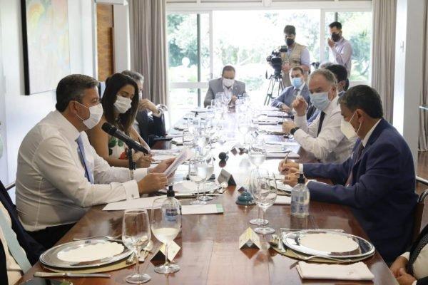 reunião do presidente da Câmara, Arthur Lira, com governadores