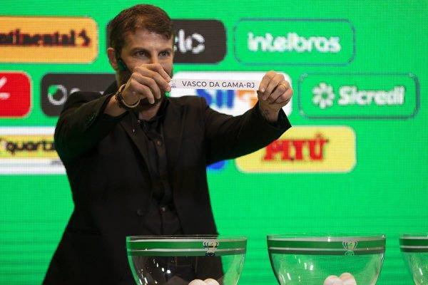 Pedrinho no sorteio da Copa do Brasil