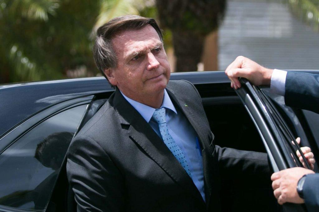 Presidente Jair Bolsonaro chega a evento em Brasília