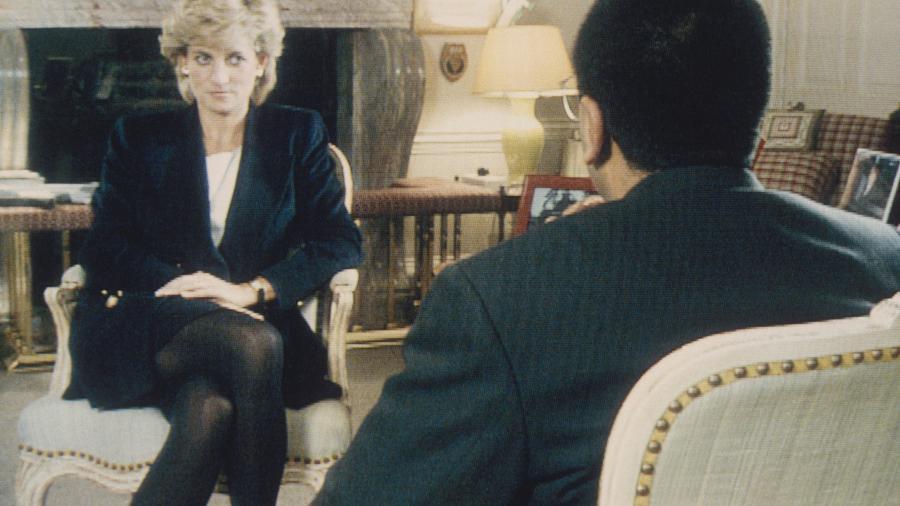 Diana em entrevista polêmica para a a BBC