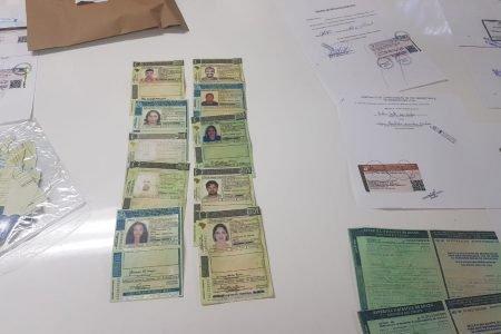 Documentos falsos apreendidos pela Copatri