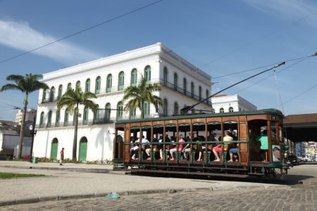 Fachada do Museu Pelé, Santos (SP)