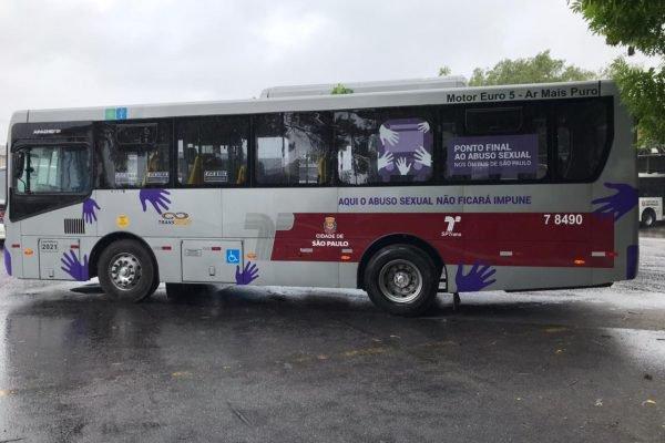 ônibus campanha violencia mulher são paulo