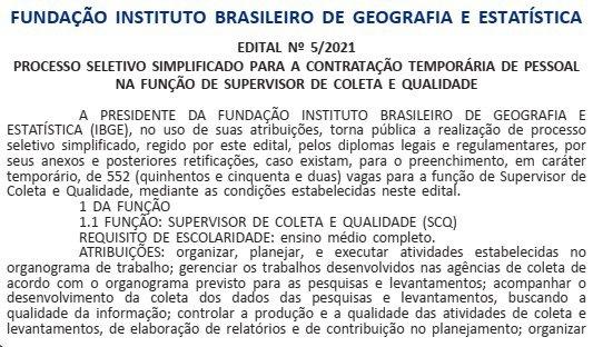Concurso IBGE